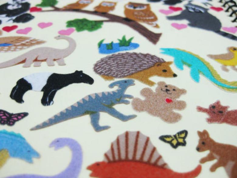 Bulanık ve renkli stickerlar