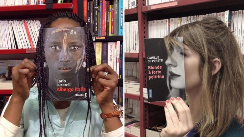 Fransa'daki Bir Kitapçıda Çalışan Şahıslar, Kitap Kapakları ile Alıcıların Suratlarını Eşleştiriyorlar