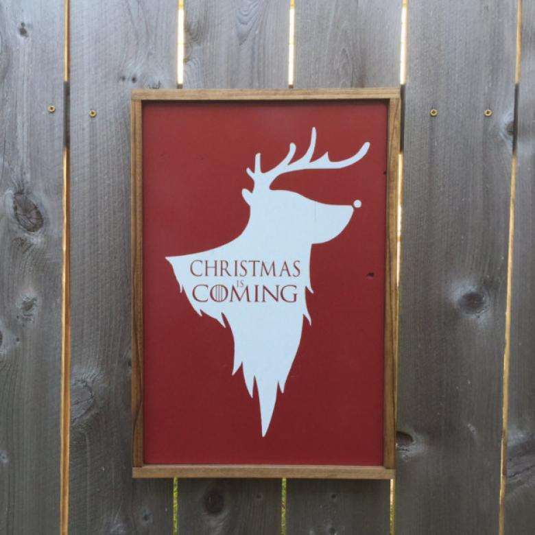 Noelin yaklaştığını gösteren tahta