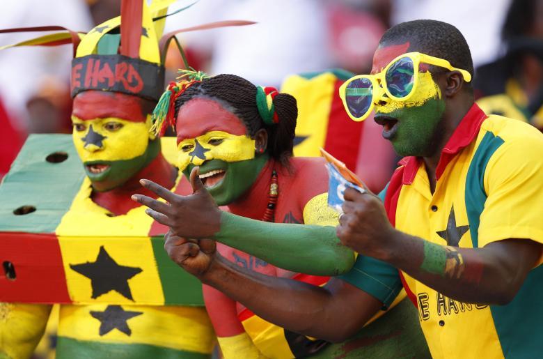 Gana futbol takımını destekleyen taraftarlar
