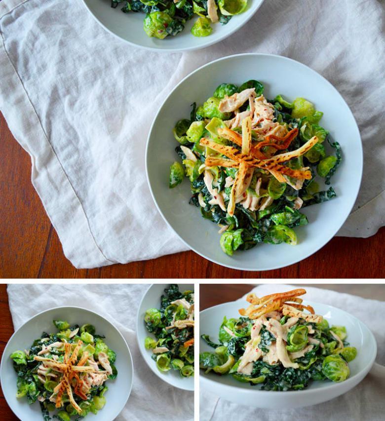 Tavuklu Brüksel lahanalı salata