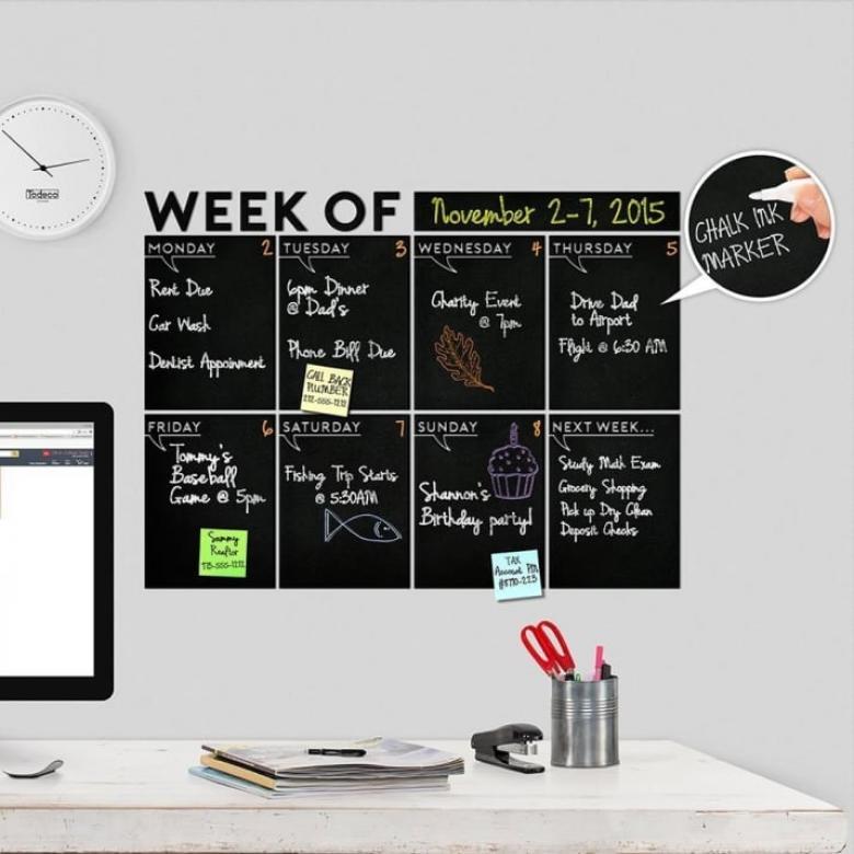 Haftanın 7 günü hazırladığın programı takip edebileceğin duvar sticker'ları