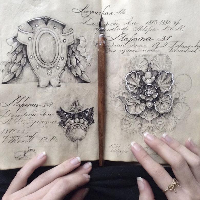 Rus Sanatçının Eskiz Defterindeki Hayranlık Uyandıran 18 Çizim