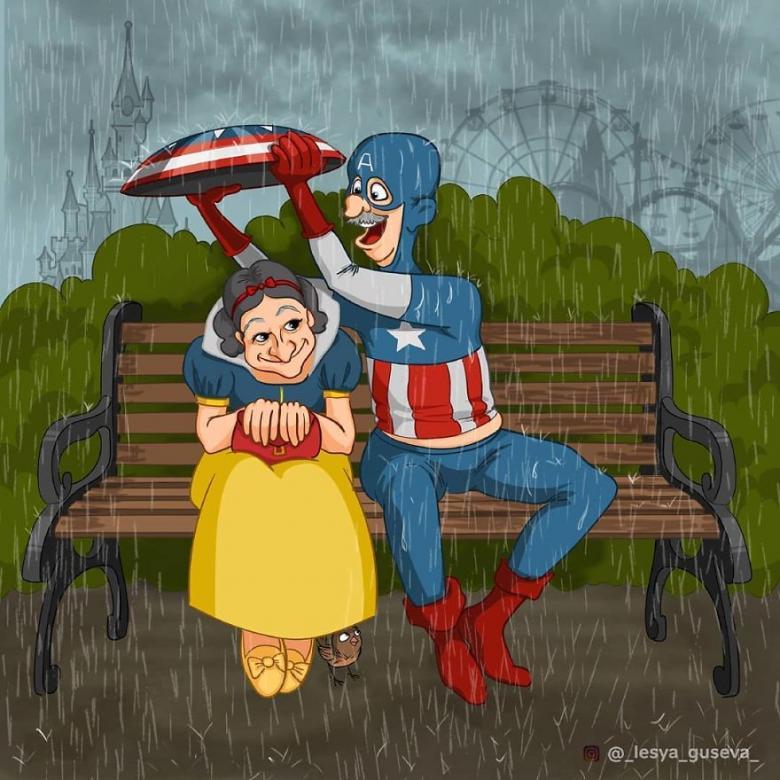 Pamuk Prenses ve Kaptan Amerika