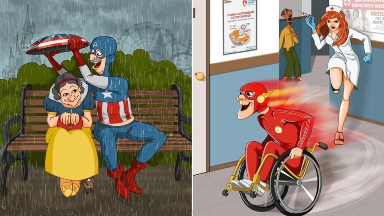 Süper Kahramanlar ve Şöhretli Şahsiyetler İhtiyarlamış Olsalardı Nasıl Görünürlerdi?