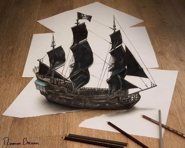 Bir kaç kağıdı birleştirerek muhteşem üç boyutlu çalışmalar yapıyor.