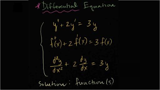 Diferansiyel Denklemler Soru Çözümü
